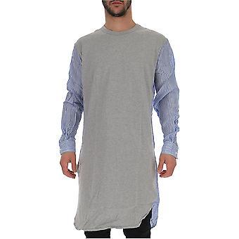 Comme Des Garçons Grey Cotton Sweater
