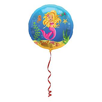 Folienballon Meerjungfrau Mermaid Heliumballon 45 cm