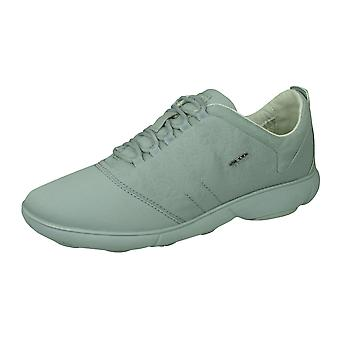Geox D Nebula A Womens Lace Up Trainers / Shoes - Light Blue