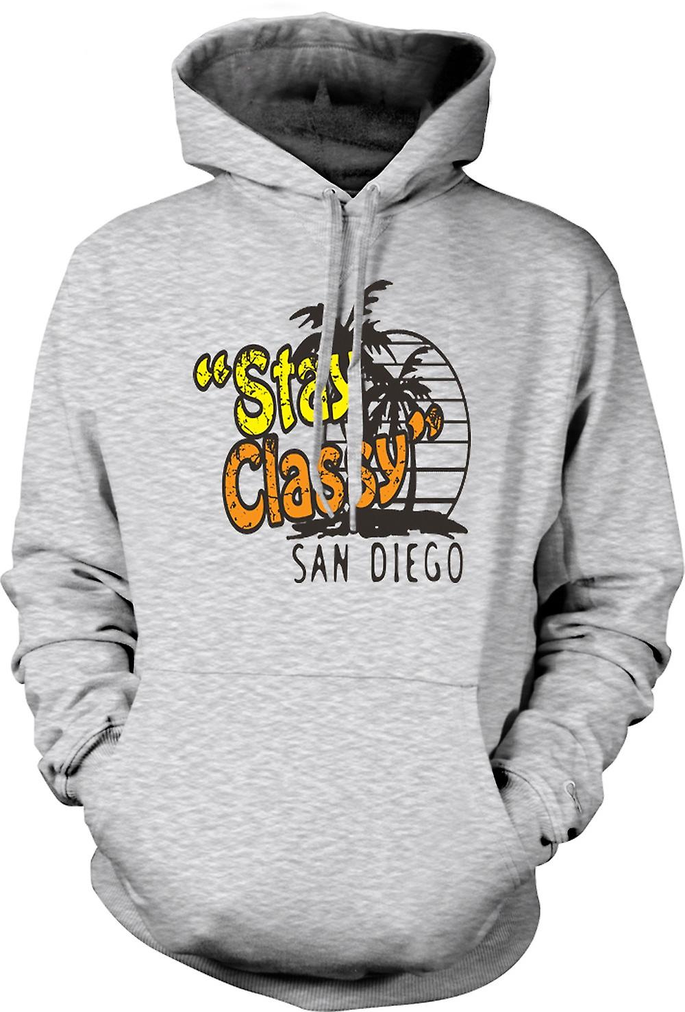 Mens Hoodie - Stay Classy San Diego - Funny