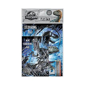 Jurassic World Play Pack Activity Colouring Set