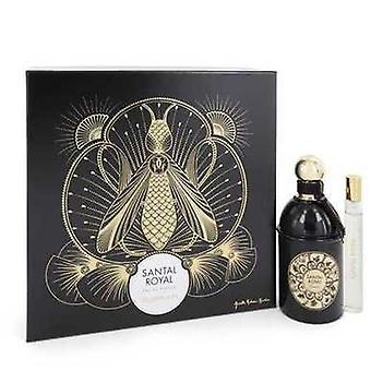 Santal Royal By Guerlain Gift Set -- 4.2 Oz Eau De Parfum Spray + .5 Oz Travel Size Eau De Parfum S V728-546404