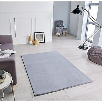 Comfy Grey  Rectangle Rugs Plain/Nearly Plain Rugs