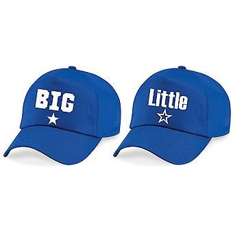 Boys Big Little Star Baseball Cap Set