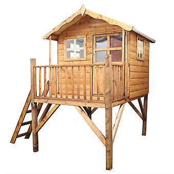 Mercia Poppy Wooden Playhouse with Tower