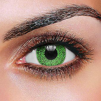 Contact Lenses - Christmas Green