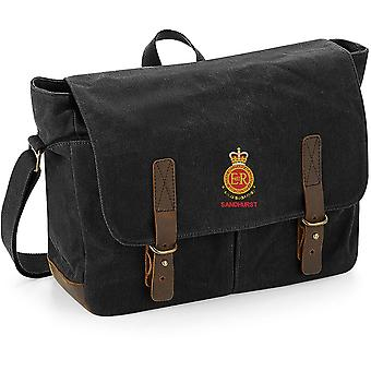 RMAS Royal Military Academy Sandhurst Nom - Licensed British Army Embroidered Waxed Canvas Messenger Bag RMAS Royal Military Academy Sandhurst Nom - Licensed British Army Embroidered Waxed Canvas Messenger Bag