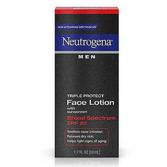 Neutrogena men triple protect face lotion, spf 20, 1.7 oz