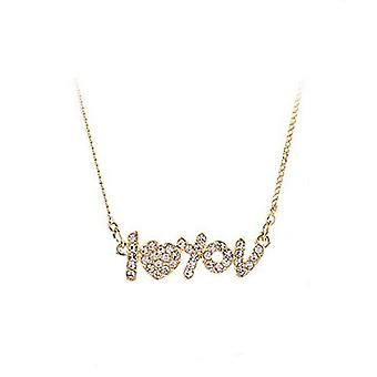 14K Gold Plated Love Choker Necklace