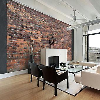 Artgeist Tapete Vintage Wall Red Brick (Dekoration , Fototapeten , Fototapeten Standard)
