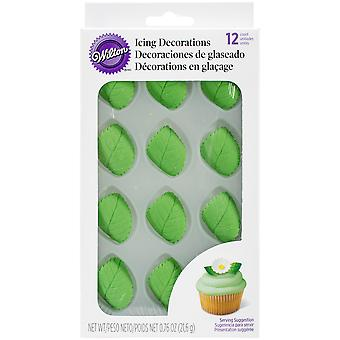 Icing Decorations 12 Pkg Leaves W101495