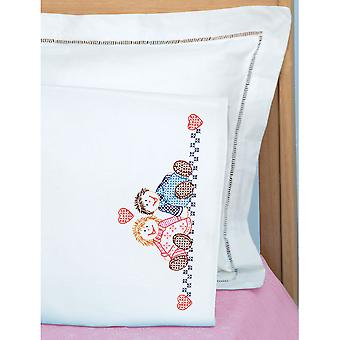 Children's Stamped Pillowcase With White Perle Edge 1 Pkg Ann & Andy 1605 117