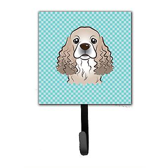 Checkerboard Blue Cocker Spaniel Leash or Key Holder BB1154SH4