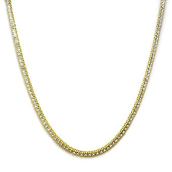Collar del Faraón 18k Gold plated CZ el corte 4mm
