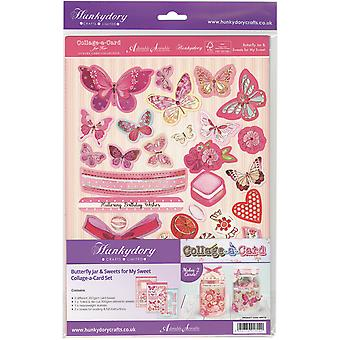 Hunkydory pour son A4 luxe A-Collage-carte Card Set-Butterfly Jar & bonbons pour ma douce HER116
