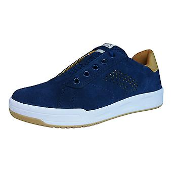 Geox Trainers J Rolk B Boys Suede Lace Up Shoes - Navy Blue