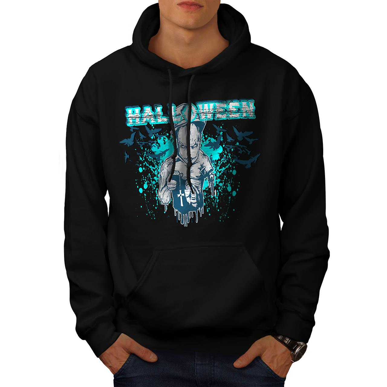Halloween Horror Cult Scary Demon Men Black Hoodie | Wellcoda