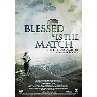 Siunattu on ottelu, elämän ja kuoleman Hannah Senesh elokuvan juliste (11 x 17)