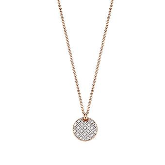 ESPRIT collection ladies chain necklace silver Rosé Megara ELNL93025A420