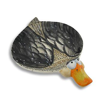 Charming Ceramic Duck Shaped Plate