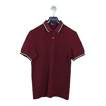 Fred Perry M3600 Classic Tipped Polo - Red