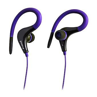 Groov-e Sports Clips Ultra Light Earphones - Violet (GVEB12VT)