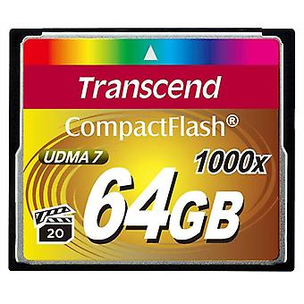Transcend 64GB Ultimate Compact Flash Card - Fast 1000x Speeds. TS64GCF1000.