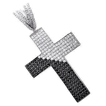 Iced out bling MICRO PAVE pendants - DIAGONAL cross