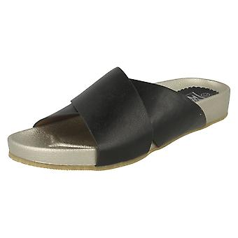 Ladies Down To Earth Metallic Mules