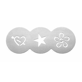 Tala Cupcake Stencil, hjerte, stjerne, blomst