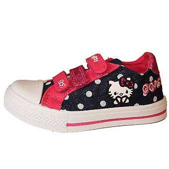 Girls Kids Hello Kitty Touch Rollercoaster Canvas Shoe