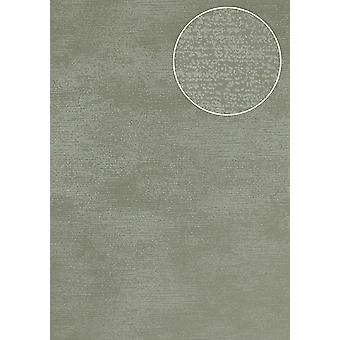 Tone on-tone wallpaper Atlas SIG-587-5 non-woven wallpaper smooth, shimmering with abstract pattern gray green grey 5.33 m2