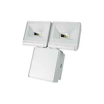 TimeGuard kraftfulde 2x8W LED Energy Saver projektør, hvid