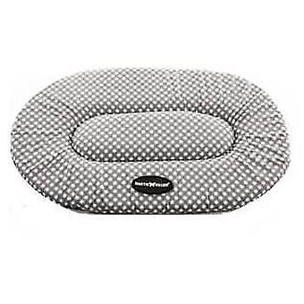 Martin Sellier Cushion Plat Oval 50 Cm gray / white