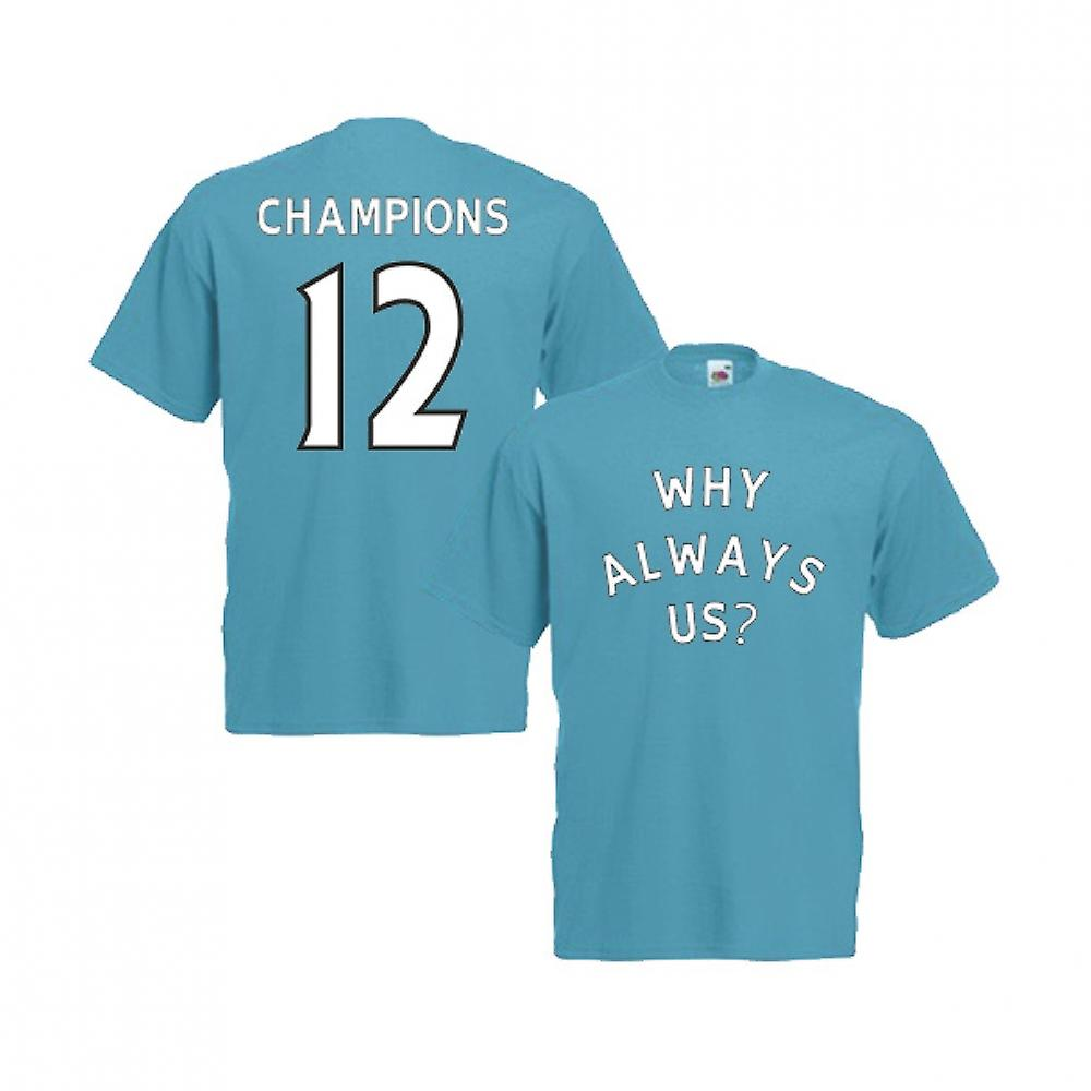 2012 Manchester City Why Always Us T-Shirt (Blue)