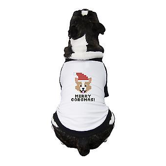 Веселая Corgmas корги ПЭТ рубашки Белый хлопок собака владелец Поднесение к Рождеству
