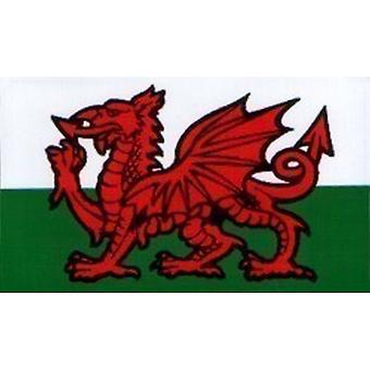 W4 Welsh Dragon Rectangle Sticker