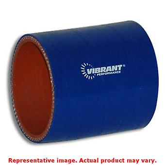 Vibrant Silicone - Straight Hose Couplers 2708B Blue 2.25
