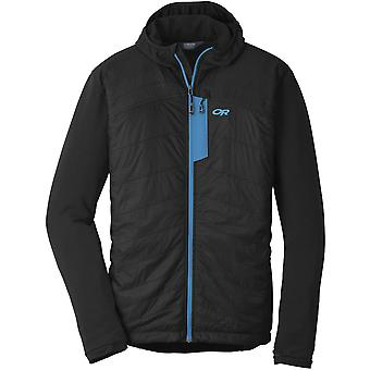 **SALE**Outdoor Research Mens Deviator Hoody Black/Tahoe (Small)