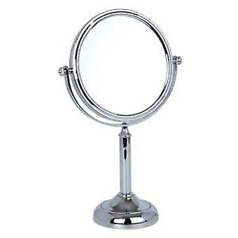 7x Magnification Small Chrome Pedestal Mirror
