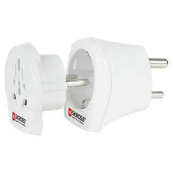 Skross Travel Adapter Combo-World-to-India Grounded