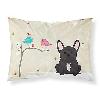 Christmas Presents between Friends French Bulldog Brindle Fabric Standard Pillow