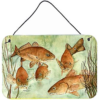 Carolines Treasures  8983DS812 Red Fish Swim Wall or Door Hanging Prints