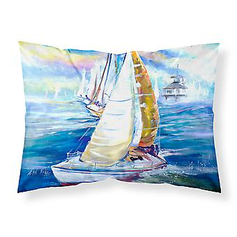 Rock my Boat Sailboats Fabric Standard Pillowcase