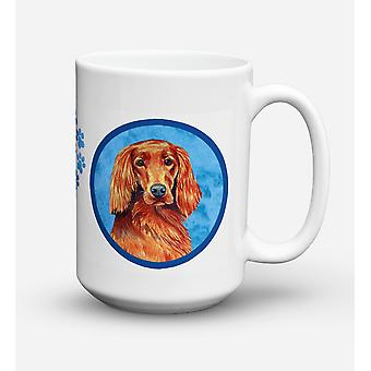 Irish Setter  Dishwasher Safe Microwavable Ceramic Coffee Mug 15 ounce