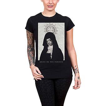 Bringe mig The Horizon T Shirt nonne band logo officielle dame Skinny passer sort