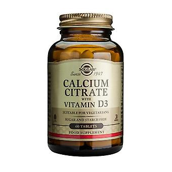 Solgar Calcium Citrate with Vitamin D3 Tablets, 60