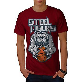 Animale uomo tigre RedT-maglia da basket | Wellcoda