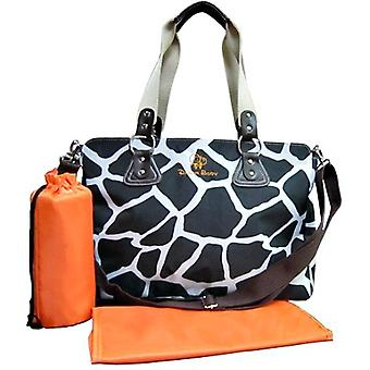 Baby Changing Bag Animal Print Black