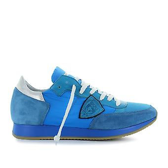 Philippe model men's TRLUNT14 light blue leather of sneakers